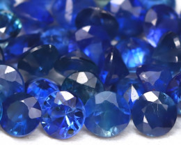 1.73Ct Calibrate 2.0mm Natural Royal Blue Sapphire Round Lot  AB2763
