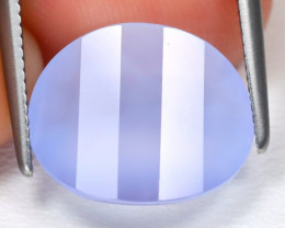 Chalcedony 3.92Ct Pixalated Cut Natural Blue Color Chalcedony B2767