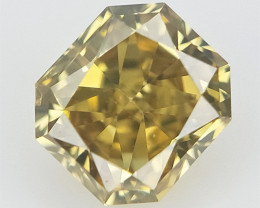 0.11 cts , Radiant Cut Diamond , Natural Color