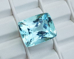 44.10 CT Light Greenish Blue Aquamarine Gemstone~Pakistan