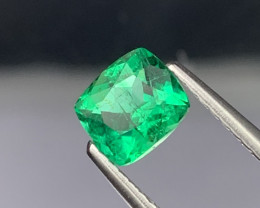 Panjshir Afghanistan AAA Grade Natural Color Vivid Green Emerald 0.75 Cts