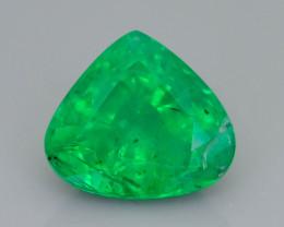 1.90 ct Zambian Emerald Vivid Green Color SKU-36