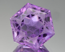 Natural Amethyst 23.03  Cts Precision  Cut, Top Quality Gemstone