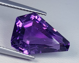 9.25  ct Exclusive Gem Superb Fancy Cut Natural Purple Amethyst