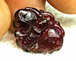 14.0 Ct. Rhodolite Garnet Luck Charm Purple Butterfly - Beautiful