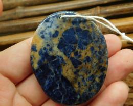 Natural african sodalite pendant flower  (G2448)