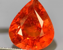 4.55 CTS MARVELOUS RARE NATURAL TOP FANTA-SPESSARITE DAZZLING PEAR~