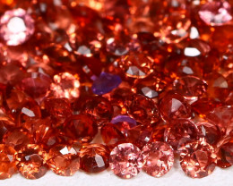Malaya Garnet 3.88Ct Round 1.8mm Natural Malaya Garnet Lot AB2740