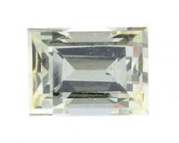 0.73ct Natural Light Yellow Emerald shape Diamond GIA certified
