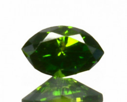 Hi - Stunning  0.08 Cts Natural Diamond Vivid Green Marquise Africa