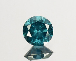 0.24 Cts Natural Electric Blue Diamond Fancy Round Cut 4mm  Africa