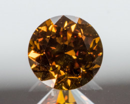 Natural Fancy Deep orangy Brown Diamond HRD  certified  SI1