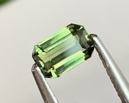 Olive Green Custom Cut Unheated/Untreated Natural Sapphire 0.58 Cts