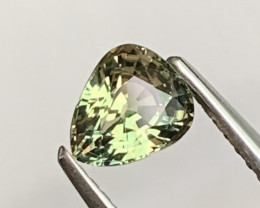 AAA Grade 0.99 Cts Natural Tea Green Color Sapphire Unheated
