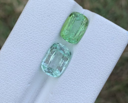 5 carats Green and light Blue colour Tourmaline Gemstone From Afghanistan