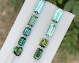 9.60 carats Transparent Blue & green colour Tourmaline Gemstone From  Afgha