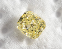 0.53ct Natural Fancy Intense Yellow Diamond HRD certified  SI2
