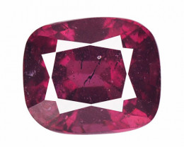 Rhodolite Garnet 3.34 Cts Unheated Natural Deep Cherry Red Gemst
