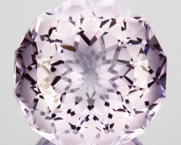 ~CUSTOM CUT~ 10.95 Cts Natural Pink Amethyst Fancy Round Cut Bolivia