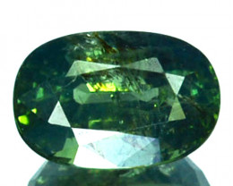 ~UNHEATED~ 1.35 Cts Natural Sapphire Beautiful Green Oval Madagascar