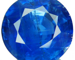 1.82 Cts Natural Royal Blue Kyanite 7mm Round Cut Nepal