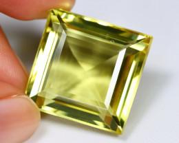 Lemon Quartz 47.74Ct VVS Square Cut Natural Lemon Quartz AB3087