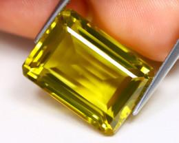 Lemon Quartz 15.15Ct VVS Octagon Cut Natural Lemon Quartz AB3088