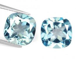 10.20 Carat 2 Pcs Blue Natural Topaz Gemstone