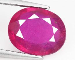 2.10 Cts Pinkish Red Natural Ruby BURMA  Loose Gemstone