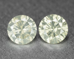 0.40 Cts 2 Pcs Untreated Fancy White Color Natural Loose Diamond