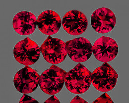 2.70 mm Round 12 pcs 1.03ct Red Spinel [VVS]