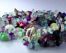 NR!!!! 627.00 CTs Natural - Unheated Multi color Fluorite Beads String