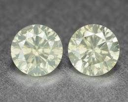 Diamond 0.46 Cts 2pcs Untreated Fancy Yellowish Grey Color Natural Loose Di