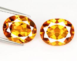 4.61 Cts 2 Pcs Rare Fancy Orange Yellow Color Natural Mystic Topaz