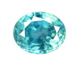 1.80 CTS BLUE ZIRCON NATURAL LOOSE GEMSTONE