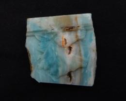 106cts Raw Gemstone Amazonite Horse Cabochon ,Hand Carved Pendant ,Amazonit