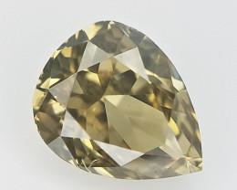 0.11 CTS , Natural Pear Diamond , scintillating Diamond