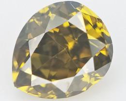 0.15 cts , Pear Brilliant Cut Diamond , Natural Colored Diamond