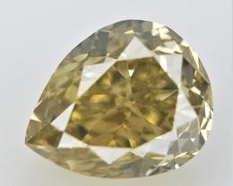 0.13 CTS  , Pear Cut Diamond , Loose Natural Diamond
