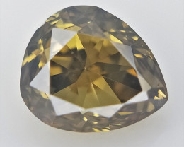 0.18 cts , Pear Shaped Diamond  , Fancy Color Diamond