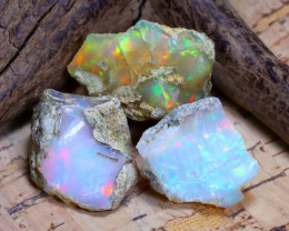 33.47Ct Bright Color Natural Ethiopian Welo Opal Rough B3129