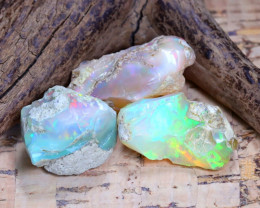 37.17Ct Bright Color Natural Ethiopian Welo Opal Rough B3130