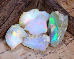 39.16Ct Bright Color Natural Ethiopian Welo Opal Rough B3139