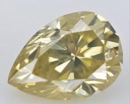 0.18 cts , Pear Natural Diamond , Light Colored Diamond