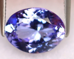 Tanzanite 3.13Ct Natural VVS Purplish Blue Tanzanite ER374/D4