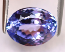 Tanzanite 3.20Ct Natural VVS Purplish Blue Tanzanite ER380/D4