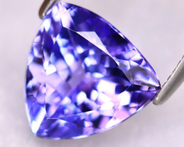 Tanzanite 2.98Ct Natural VVS Purplish Blue Tanzanite ER384/D4