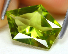 Peridot 1.53Ct VS2 Fancy Cut Natural Neon Green Color Peridot AB2922