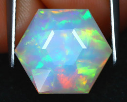Welo Opal 5.65Ct Master Cut Natural Ethiopia Play Of Color Welo Opal AB2927