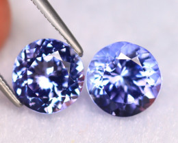 Tanzanite 4.58Ct 2Pcs Natural VVS Purplish Blue Tanzanite ER405/D4